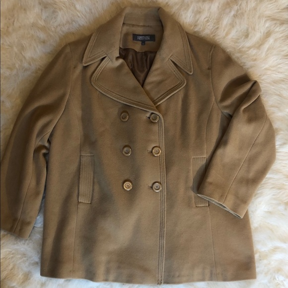 Kenneth Cole Reaction Camel Peacoat